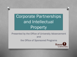 Corporate Partnerships and Intellectual Property