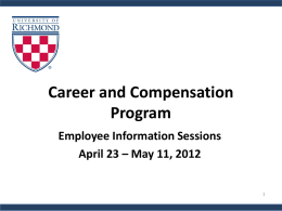 Career and Compensation Program - Human Resources