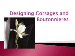 Designing Corsages and Boutonnieres
