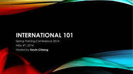 CIRCLE K INTERNATIONAL 101 : Structure and