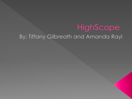 HighScope - PBworks - highscopeeducation