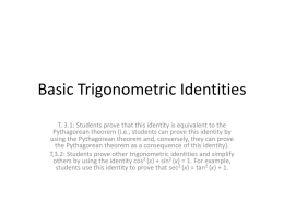 PC 02-13t15 Basic Trigonometric Identities
