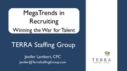 Presentation - TERRA Staffing Group