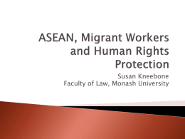 ASEAN, Migrant Workers and Human Rights