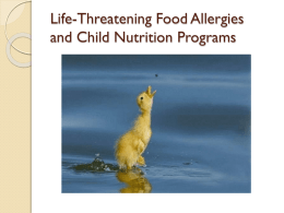Meeting Special Dietary Needs in Child Nutrition Programs