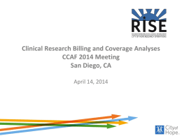 Clinical Research Billing Challenges and CMS Mandated Coverage
