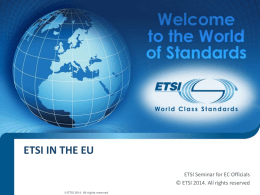 ETSI in the EU
