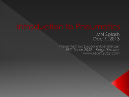 Introduction to Pneumatics