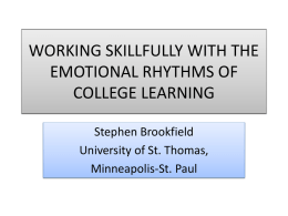 The Emotional Rhythms of College Learning