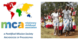 missionary - Pontifical Mission Societies