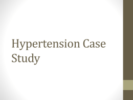 Hypertension Case Discussion
