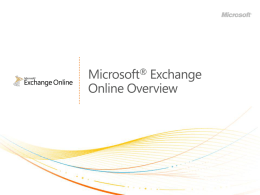 Exchange Online Overview (Office 365)