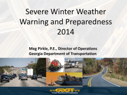 Governor`s Severe Winter Weather Report