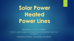 Solar Heated Power Lines