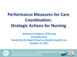 Performance Measures for Care Coordination