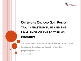 Gordon slides - Scottish Constitutional Futures Forum