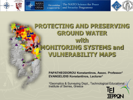 PROTECTING AND PRESERVING GROUND WATER with