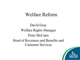 Welfare Reform - Halton Strategic Partnership