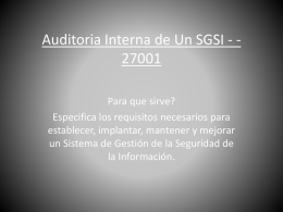 Auditoria Interna de Un SGSI -