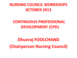 CPD - Nursing Council of Mauritius
