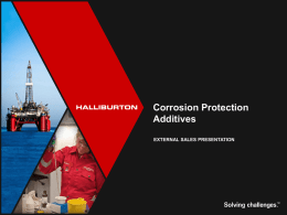 Corrosion Protection Additives Customer Presentation