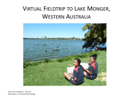 Lake Monger virtual fieldtrip