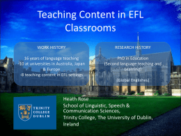 Teaching Content in Multilingual Classrooms