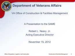 VA Office of Construction & Facilities Management