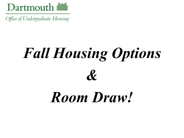 General Room Draw - Dartmouth College