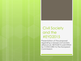 Civil Society and the #EYD2015