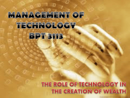 Management of (information) Technology