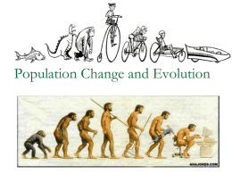Population Change and Evolution