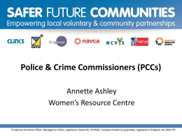 Police & Crime Commissioners (PCCs)