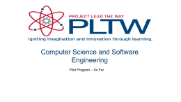 Computer Science and Software Engineering (CSE) Course