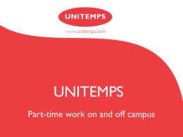 Unitemps - University of Nottingham