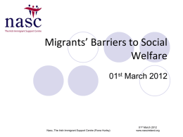 Barriers to Social Welfare