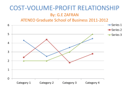 COST-VOLUME-PROFIT RELATIONSHIP