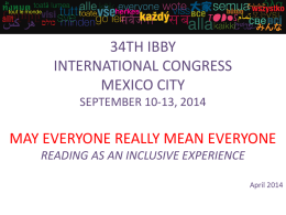 34th IBBY Congress PowerPoint