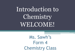File - Mrs. Sawh`s Cool Chemistry