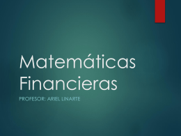 Interes simple - Msc. Ariel Linarte