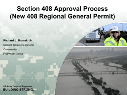 Section 408 Approval Process