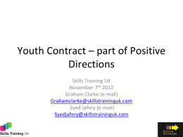 Youth Contract