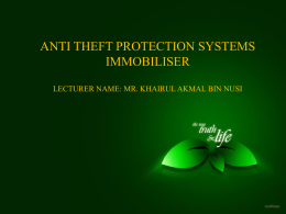 anti theft protection systems immobiliser - ja505