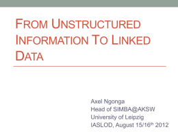 From Unstructured to Structured Data