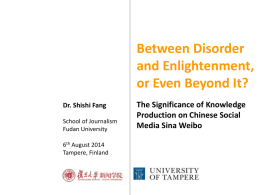 The Significance of Knowledge Production on Chinese Social Media