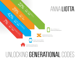 Unlocking the Generational Code by Anna Liotta (powerpoint)