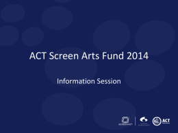act screen arts fund 2014