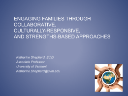 Engaging Families Through Collaborative, Culturally Responsive