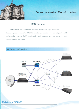 DBO Server DINSTAR Dynamic Bandwidth Optimization