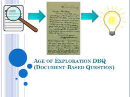 Native Americans & Exploration DBQ Instructions